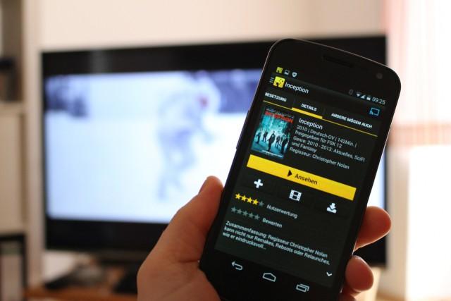Die Online-Videothek zum Flatrate-Preis erlaubt die Nutzung des Chromecast-Dongles.