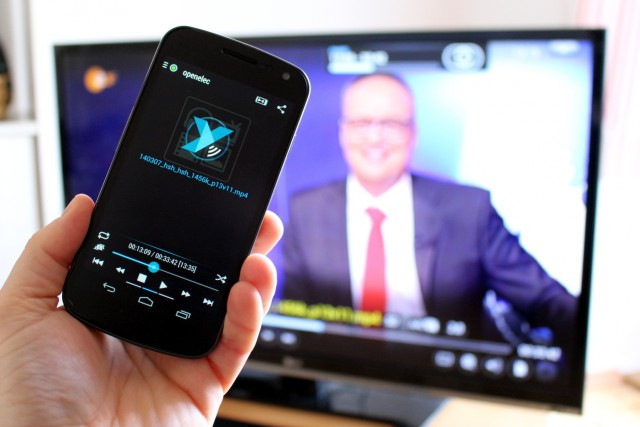 Mit Yatse lässt sich die Wiedergabe vom Handy aus kontrollieren.