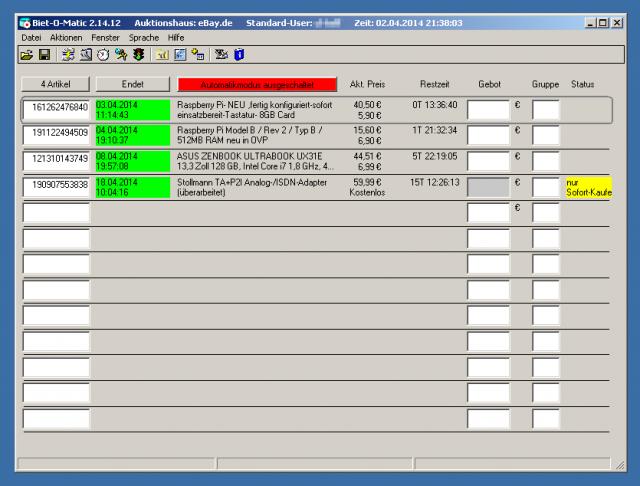 Den Klassiker Biet-O-Matic gibt es leider nur für Windows.