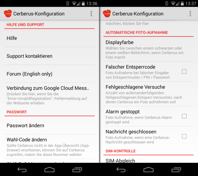 Cerbersus lässt sich im Gegensatz zu den meisten anderen Sicherheitslösungen für Android auch direkt ins ROM des Handys flashen.