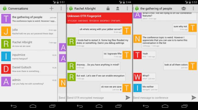 Conversations ist ein Open-Source-Client für XMPP/Jabber-User unter Android.