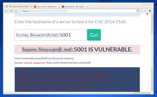 Der Heartbleed-Test verrät euch, ob euer Server im Internet vom Heartbeet-Bug betroffen ist.