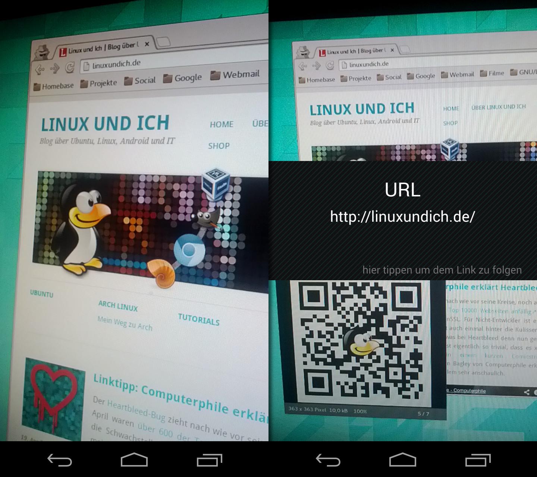 Obsqr QR Scanner scannt QR-Codes en passant › Linux und Ich