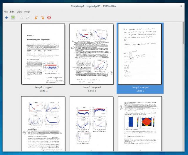 PDFShuffler sorgt dann dafür, dass nur noch die wichtigen Seiten im PDF enthalten sind.