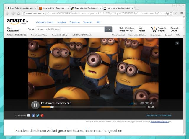 Amazon Instant Video unter Linux mit Pipelight