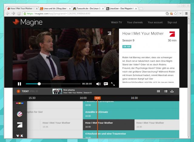 Der Internet-TV-Anbieter Magine mit Chrome und Pipelight