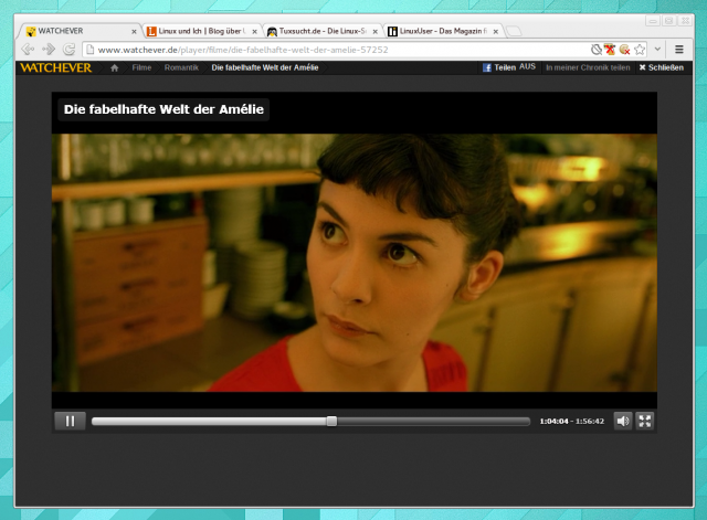 Watchever mit Pipelight unter Arch Linux