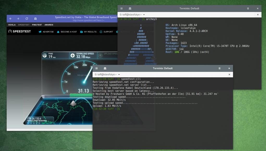 Speedtest.net mit speedtest-cli im Terminal ohne Browser ausführen ...