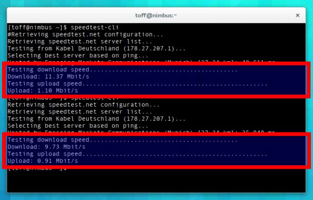 speedtest-cli führt den Leistungstest von speedtest.net auch ohne einen Browser aus.