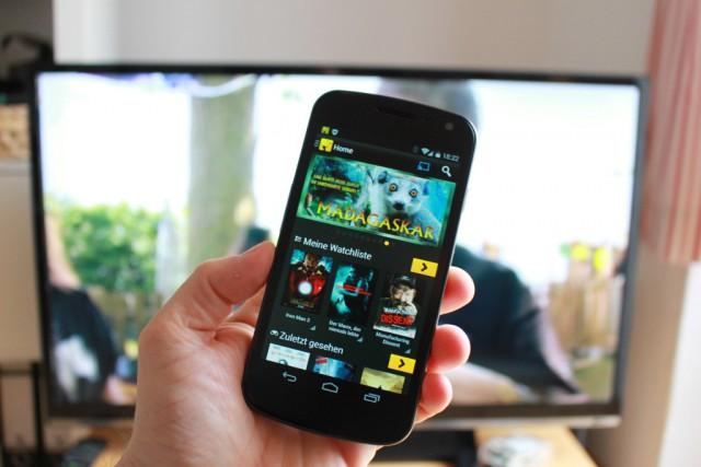 Dienste wie Watchever, Maxdome oder Sky Go unterstützen den Chromecast.