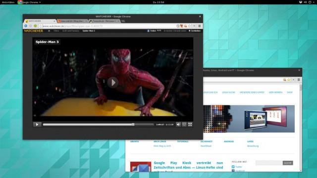 Die Gnome-Shell verursacht beim Wechsel in den Vollbildmodus von Pipelight-Videos Probleme.