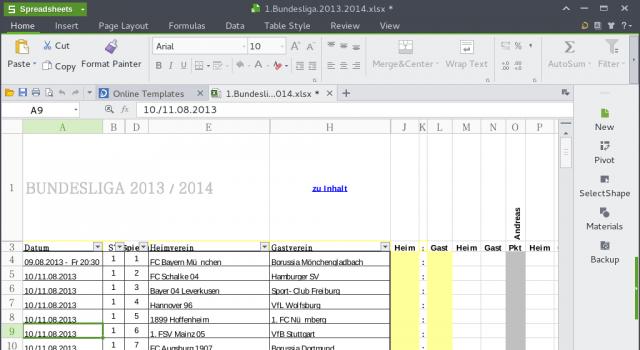Kingsoft Office bietet Textverarbeitung, Tabellenkalkulation und Präsentationen.