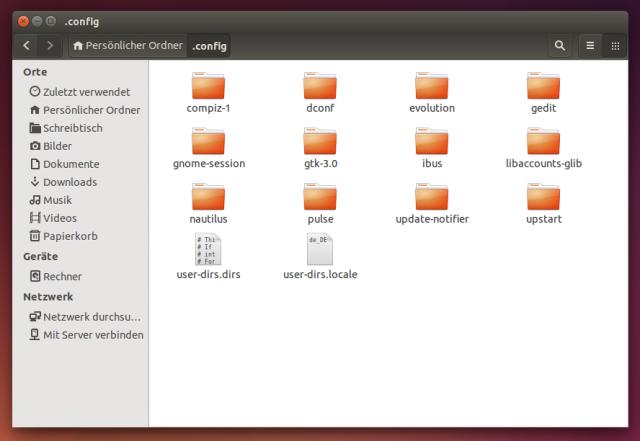 Im versteckten .config-Ordner finden sich viele Konfigurationsdateien, die es vielleicht gar nicht mehr braucht.