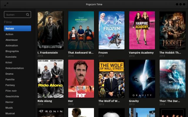 Popcorn Time streamt Videos per BitTorrent auf den PC.
