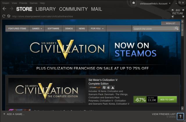 Sid Meier's Civilization V gibt es seit heute auch für Linux und SteamOS!