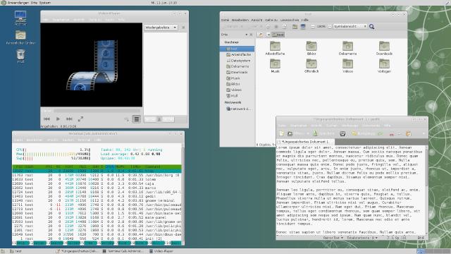 Die Schrift in den Menüs von GTK3-Anwendungen erscheint bei Mate immer weiß.