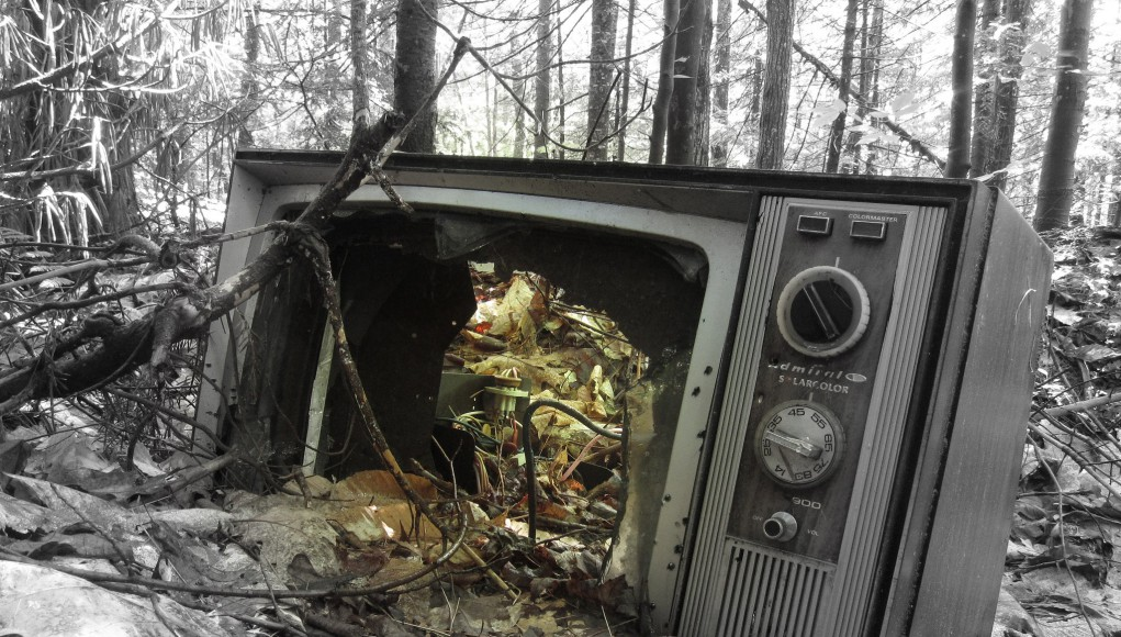 Old and broken TV