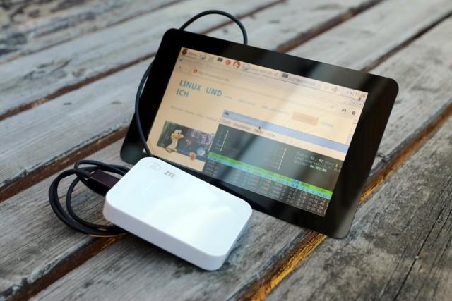 Mit dem offiziellen Touchscreen-Display wird der Raspberry Pi zu einem kleinen freien Laptop.