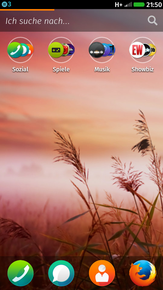 Firefox OS Homescreen
