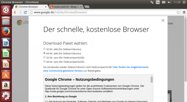 pas de chrome flash ubuntu installer