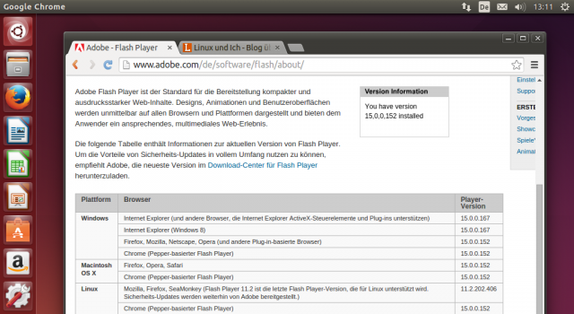 Adobe packt das aktuelle Adobe Flash direkt in Chrome.