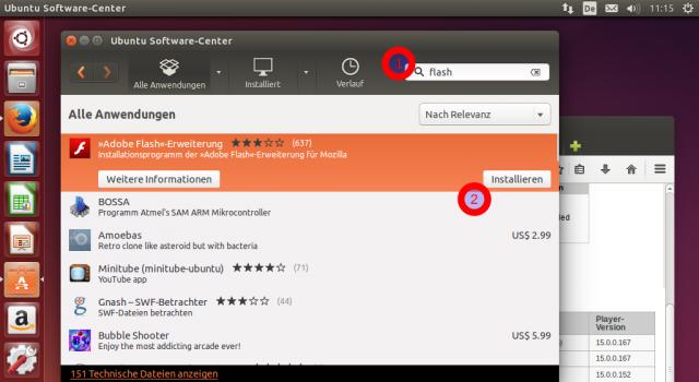 Adobe Flash kann in Ubuntu 14.04 über die Paketverwaltung installiert werden.