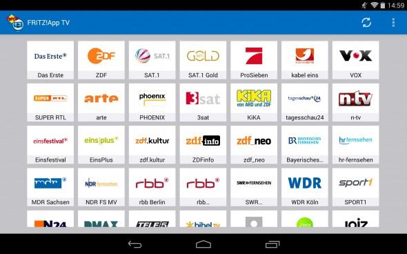 Fernsehen mit dem FRITZ!WLAN Repeater DVB-C und der neuen Fritz!App TV für Android.