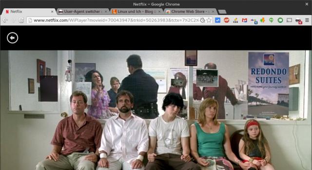 Mit dem richtigen User-Agent spielt Netflix unter Linux Filme via HTML5 ab.