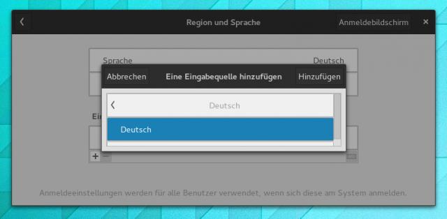 Mit dem Update auf Gnome 3.14 ging das Tastaturlayout für den Loginmanager verloren.