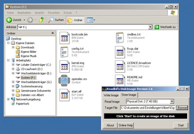 Mit Roadkil's Disk Image sichert und die SD-Karte eures Raspberry Pis auf Festplatte.