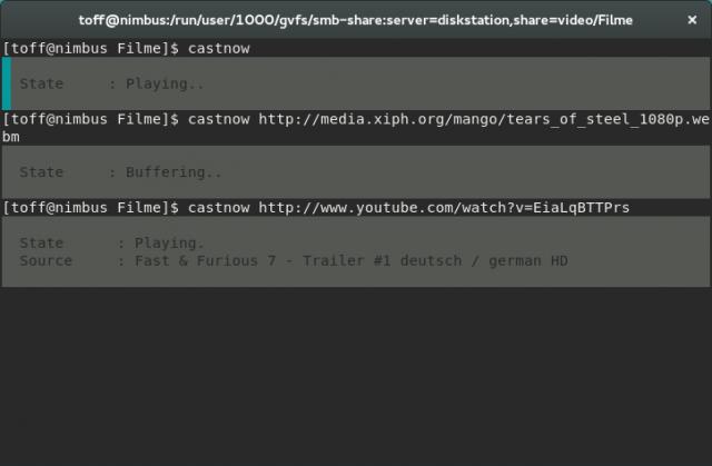 Mit Castnow steuert ihr einen Chromecast vom Linux-Terminal aus.