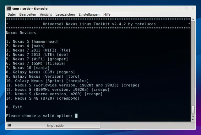 Das Universal Nexus Linux Toolkit rootet sämtliche Nexus-Geräte von Google.