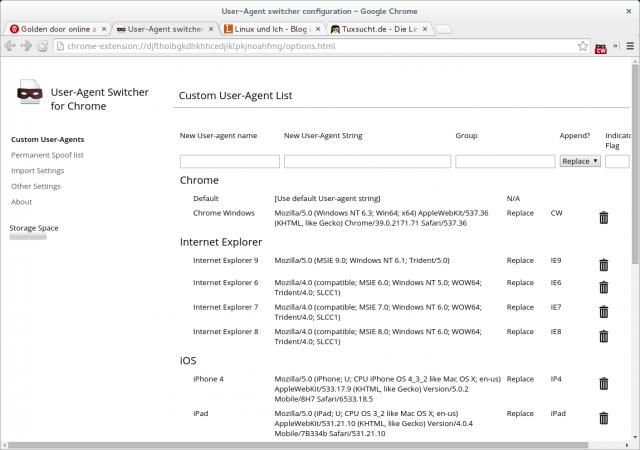 Mit einem auf Chrome für Windows umgebogenen User-Agent geht es einen Schritt weiter.
