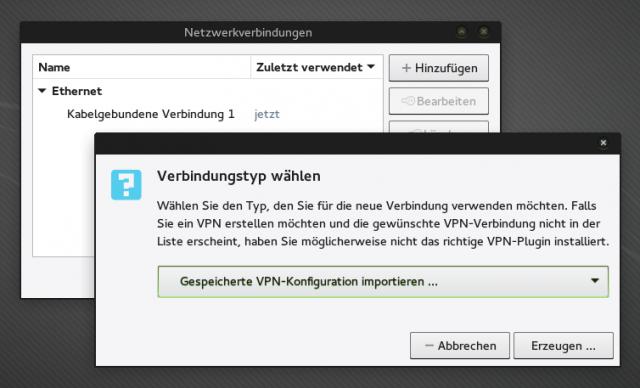 Die Konfigurationsdatei scc.ovpn könnt ihr in den Networkmanager importieren.