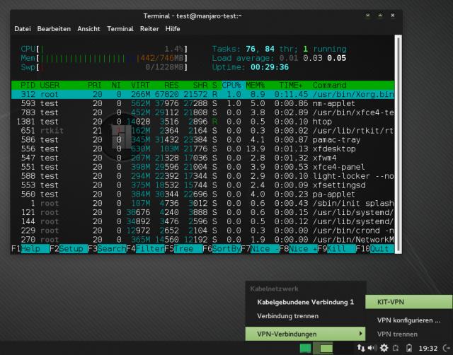 Anschließend baut ihr den Zugang zum OpenVPN des KIT bequem über den Networkmanager auf.