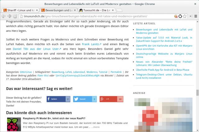 Shariff bindet Facebook, Twitter, Google+ und Co. ohne JavaScript in Webseiten ein.