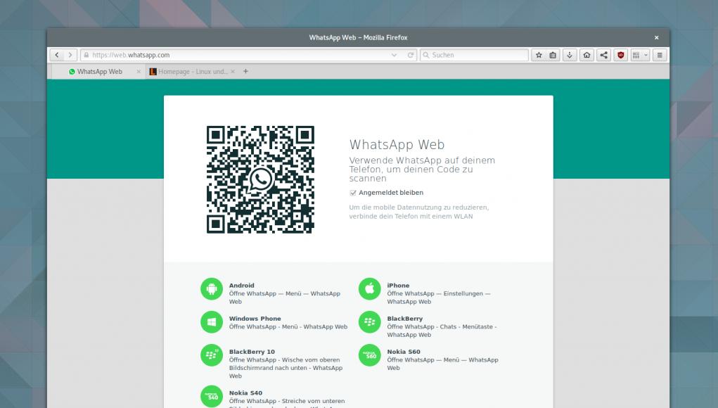 whatsapp web client ausspionieren