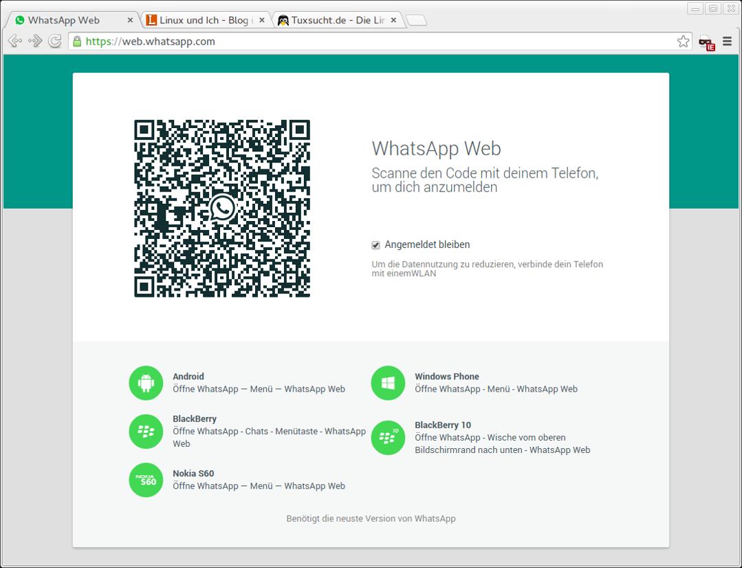 Videoanruf über Whatsapp Web