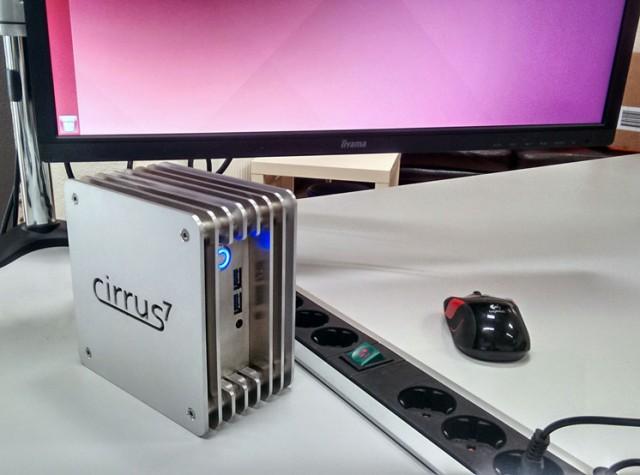 Im Cirrus7 Nimbini arbeitet ein Intel NUC Board der neuesten Broadwell-Generation mit Core i3, i5 und i7 Prozessoren.