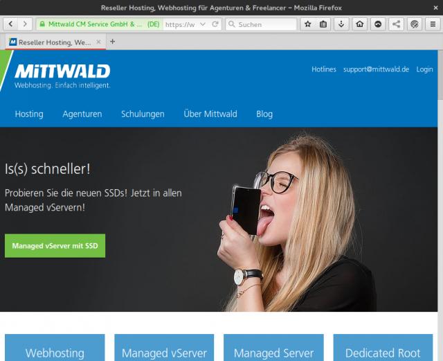 Mittwald übernimmt Anzeigen auf Linux und Ich.