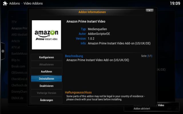 Deinstalliert vorher das von AddonScriptDE bereitgestellte Amazon-Addon.