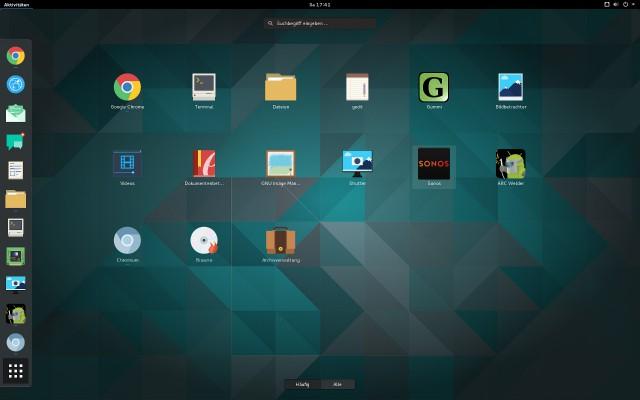 Aktuelle Desktopumgebungen zeigen Browserapps in der App-Übersicht an.