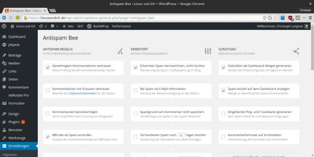 Das WordPress-Plugin AntispamBee filter zuverlässig Spam-Kommentare aus dem Blog.