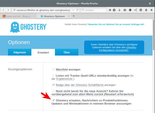 Das Update auf Ghostery 5.4.6 enthält ein integriertes Werbetool.