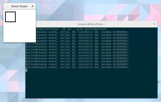 Xev gibt euch die vom Xserver generierten Events bei Mausaktionen aus.