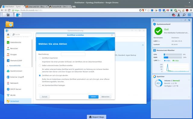 Die Let's-Encrypt-Zertifikate sollte das System auch automatisch aktualisieren.