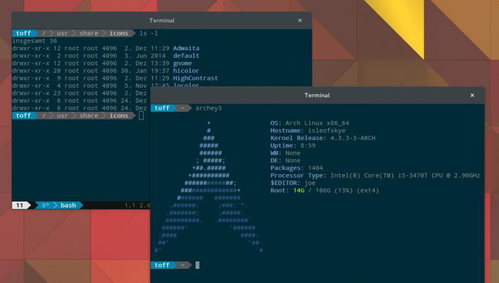 Shell-Addon Powerline in Arch Linux und Ubuntu installieren