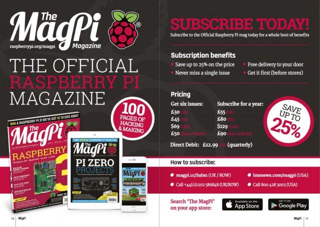 Titel der MagPi zum Raspberry Pi 3
