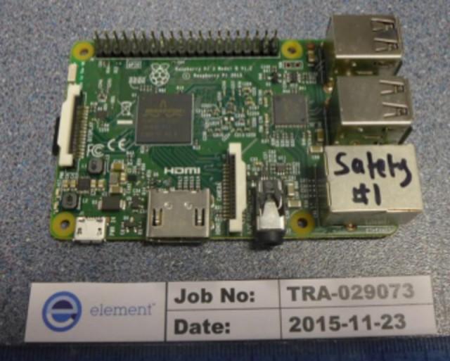 Raspberry Pi 3 Frontseite (Bildquelle: FCCID.io)