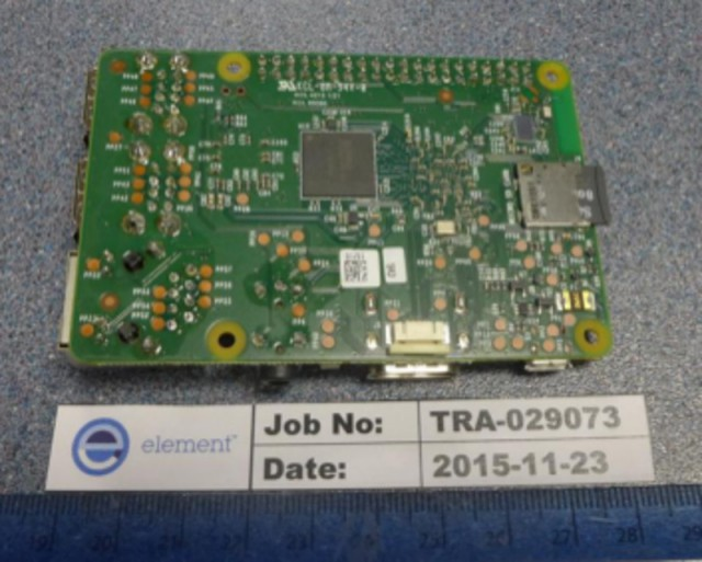 Raspberry Pi 3 Rückseite (Bildquelle: FCCID.io)